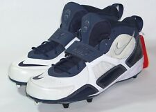 Nike Air Football Cleats Blue and White Nike Swoosh on Toe and Ankle Size 17