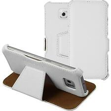 genuine Leather Case for Samsung Galaxy S6 - Leather-Case white + glass film