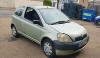2002 Toyota Yaris 1.0 Petrol 3 door hatchback manual green 75945 MILES