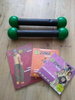 Zumba Toning Sticks (Hardly used) - Body Transformation DVDs & Guide (Sealed!)