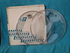 """2 Ludwig Striders Heavy Clear 13"""" inch Drum Head with box free shipping"""