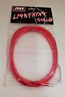 MCS LIGHTNING BRAKE CABLE CHROMED RED BMX MTB FIXIE