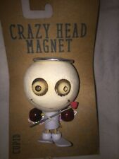 Crazy Head Magnet Cupid w/ Arrow Rubber Wood Collectible Magnet Many Available!
