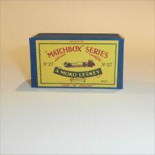 Matchbox Lesney 27 b Low Loader empty Repro B style Box