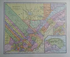 1903 Quebec Montreal Canada Dodd, Mead & Company Colorful Old & Original Map