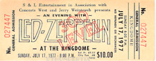 1  LED ZEPPELIN UNUSED FULL CONCERT TICKET 1977 SEATTLE WA  Laminated reprint