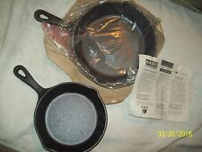 """Lot of 2 Philippe Richard Cast Iron Traditional 6.25"""" & 8.5"""" Skillet Pans-NEW"""