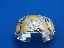 Signed Allen Chee Navajo Sterling Silver Eagle Cuff - Approx. 79g