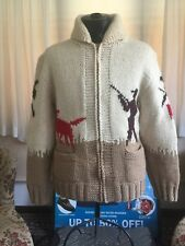 Cowichan mens vintage hand Knitted sweater