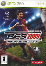 PRO EVOLUTION SOCCER PES 2009 for Xbox 360 - with box & manual - PAL