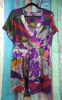 Lane Bryant Womens Plus Size 22/24W Shirt Top Blouse Floral Career