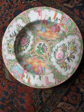 Antique Chinese Porcelain Rose Medallion Soup Bowl