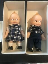Kewpie Dolls Boy And Girl Plaid Outfits New 1993 6 Inch
