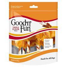 Good 'n' Fun Triple Flavor Wings Rawhide Dog Chews, 12 Oz.