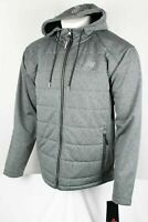 New Balance Men's Hooded Softshell Fleece Jacket Heather Gray
