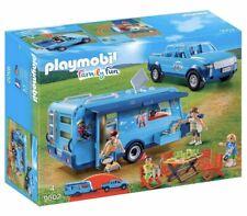 PLAYMOBIL 9502 Family Fun Park Pickup Truck with Caravan Camper Car Minifigures