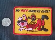 Vintage RUPP RUNNETH OVER! Minibike Snowmobile Patch  Skidoo 1970's