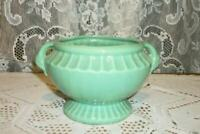 1930s ART & CRAFTS STYLE GREEN POTTERY POT HANDLES FRENCH FARMHOUSE NOT MARKED