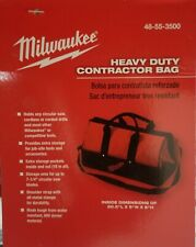 "Milwaukee 20.5""x9""x8"" Heavy Duty Contractor Bag w/ Carry Strap."
