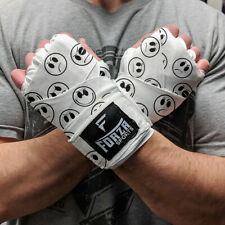 "Forza Sports 180"" Mexican Style Boxing and MMA Handwraps - Smileys White"
