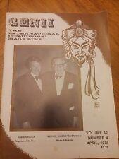 Vintage Genii Magazine Norm Nielsen Werner 'Dorny' Dornfield 1978