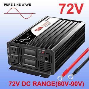 72 volt to 120 volt pure sine wave solar inverter off grid 1500watt