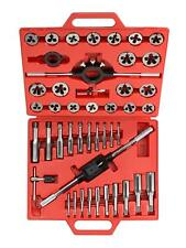Metric Tap and Die Tool Kit Set 45 Piece with Case Tekton 7561 Tungsten Alloy