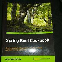 Spring Boot Cookbook-1st Edition- Paperback - Antonov, Alex -2015