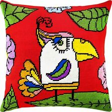 "Needlepoint/Tapestry Pillow Cover DIY Kit ""Parrot"""