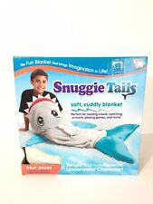 Snuggie Tails Gray Shark One Size Fits Most Kids New