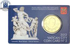 Vatikan 50 Cent 2012 Benedikt XVI. in Coin Card Nr. 3 Laokoon Gruppe