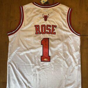 """Derrick Rose """"MVP 11"""" Signed Autographed Bulls Adidas Jersey Beckett COA Knicks"""