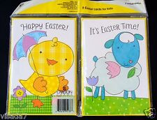 8 Easter Greeting Cards Holiday Spring Kids Graphic Carlton American Greeting