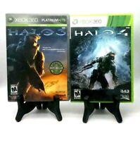 Halo 3 Platinum Hits W/ Poster & 4 Reach Microsoft Xbox 360 Very Good Bungie