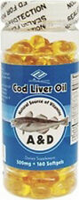 Nu-Health Cod Liver Oil (160 Softgels / 500 mg) good for eye . 5 months supply