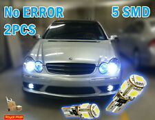 2x 5 SMD LED 501 T10 194 CANBUS NO ERROR FREE XENON WHITE SIDE LIGHT BULBS 7000K