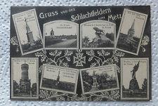 AK Gruss von den Schlachtfeldern um Metz Mehrbildkarte Feldpost gel. 1916