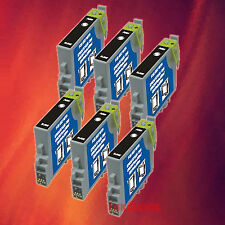 6 T044120 T0441 BLACK INK FOR EPSON C84WN C66 CX6600