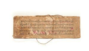 Antique Book de Prieres Tibetan Of Monk Manuscript -tibetan manuscript-9115