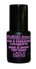 1639R25 LAYLA GEL POLISH BASE & TOP COAT PREPARA LUCIDA 10 ML X SEMIPERMANENTE