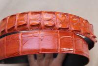 Luxury Genuine Alligator Crocodile Leather Skin MEN'S BELT Orange - W 1.3 inch