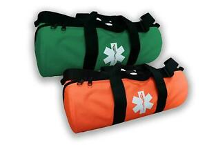 O2 Oxygen Duffle Responder Trauma Sleeve Bag with Star of Life Logo Fire Fighter