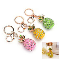 Pineapple Crystal Rhinestone Keyring Charm Pendant Bag Key Ring Chain Keychain)