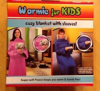 COZY BLANKET WITH SLEEVES FOR KIDS COLOR BLUE OR PINK
