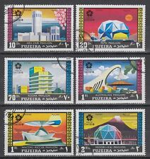 FUJEIRA 1970 mi.537/42 a fine used c.t.o. EXPO JAPON pavillons