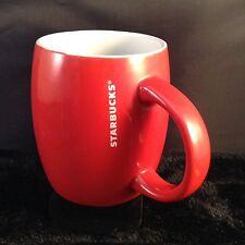 Starbucks Coffee Holiday Christmas Red Barrel Mug 2011 White Vertical Lettering