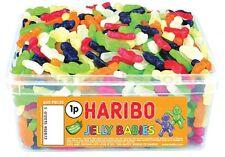 HARIBO JELLY BABIES 1 TUB OF RETRO SWEETS CANDY TREATS PARTY 1080 gram