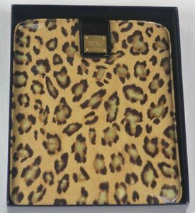 Ralph Lauren Leopard Print I Pad Tablet Media Case Gift Box Gillespie NWT