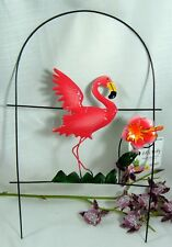"Pink Flamingo 10"" x 15""  Garden Fence Yard Stake Art Lawn Ornament Decor"