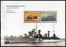 1993 Naval Maritime Vessels Minisheet ANZAC Stamps Mint Australia
